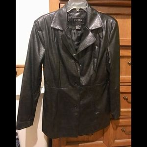 Black pleather snakeskin jacket